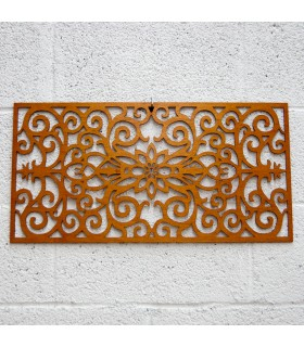Wood Lattice - Floral border - 60 x 30 cm