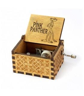 Pink Panther Musical Box - Vintage Wood