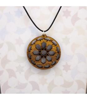 Hanging Olive Wood Pendant - Design Nazarí Alhambra