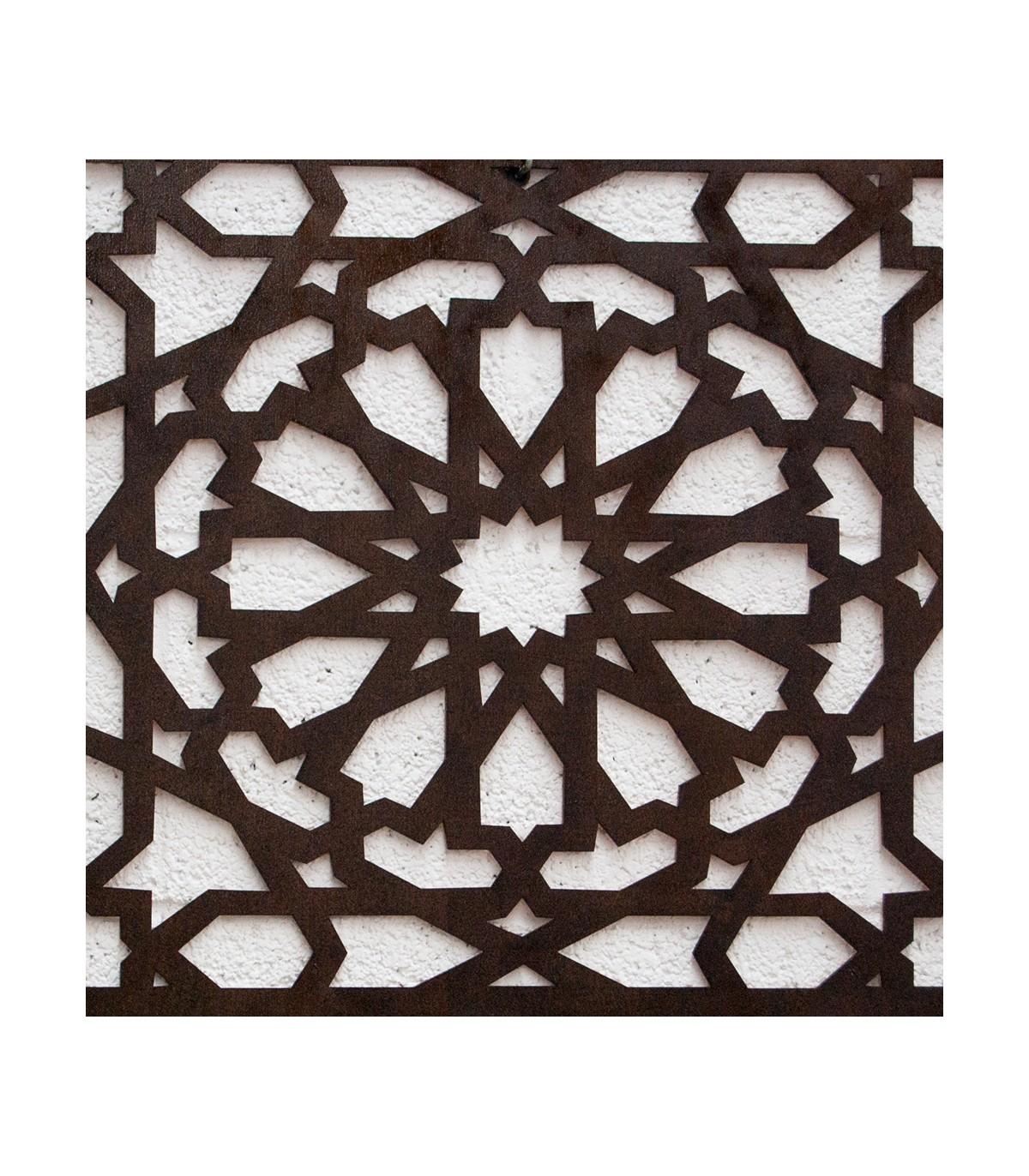 Treillis Bois Pas Cher alhambra de plafond en treillis de bois - 250 x 50 cm - 4 mm