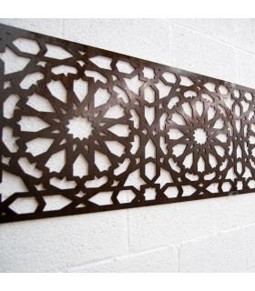 Alhambra de treliça de madeira - 250 x 50 cm - 4 mm
