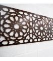 Celosía Madera Cenefa Alhambra - 250 x 50 cm - 4 mm
