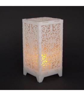 Farol Led Deluxe - Diseño Floral - 13 cm