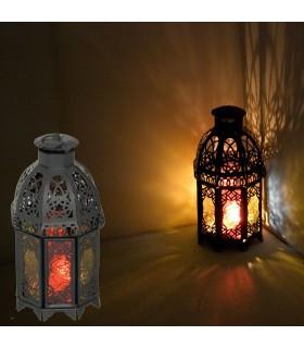 Octagonal Lantern - multi-color - depth Arabic - 2 doors