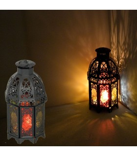 Octagonal Lantern - Multicolor - Arab Draft - 2 Doors