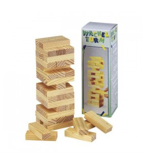 Jenga Tower - Wit - Puzzle -15 cm