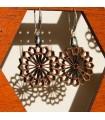 Pendientes Madera Olivo con Plata - Diseño Najma