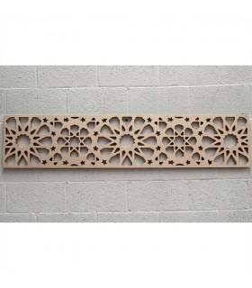 Tête de lit en bois avec treillis - 168 x 36 x 3 cm - Modèle Samai