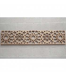 Lattice Wood Bed Headboard - 168 x 36 x 3 cm - Model Samai