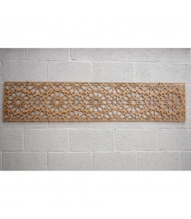 Tête de lit en bois avec treillis - 168 x 36 x 4 mm - Modèle Samai