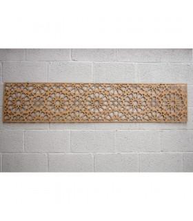 Lattice Wood Bed Headboard - 168 x 36 x 4 mm - Samai Model
