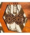 Pendientes Madera Olivo con Plata - Diseño Alhambra Dair