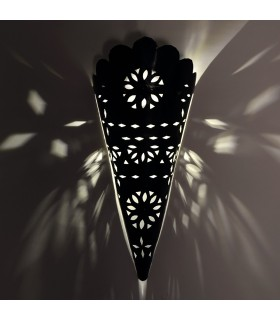 Openwork Iron Wall Lamp - Craftsman - Arabic Design - Wavy Edge