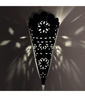 Profundidade de parede de ferro - artesão - árabe - projeto borda ondulada