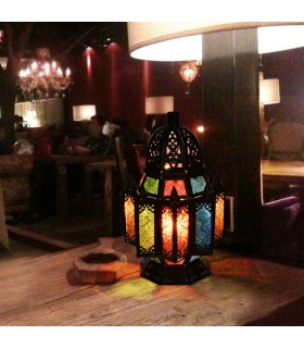 Spitzen verziert Lampe - durchtränkt Arab - Multicolor - 2 Größen