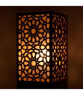 Lámpara de Madera Alkauzar - Diseño Mosáico Alhambra