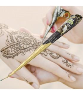 Tatuagem de Henna em preto - ARWA - Cor escura - Índia