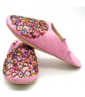 Chaussons - pantoufles de homespun - diverses couleurs - N 36-41