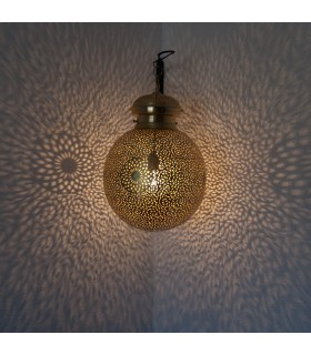 Lámpara Techo Latón Calado DELUXE - Modelo Qatar - 35 cm