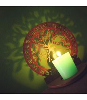 Portavelas Celosía Calada - Arbol Vida