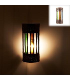 Parede cilíndrica de cristal - cores - andaluz - árabe