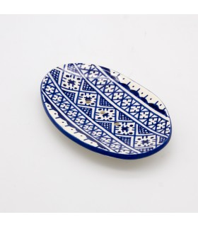 Ceramic soap dish - Berber Design - Model Fez - 14 cm