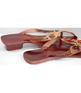 Sandalia Roja Mujer  - Con o sin Tacón N 38-43