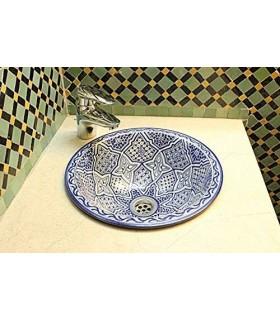Ceramic Painted Washbasin - Model Fez - 35 cm