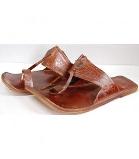 Cuir sandale homme - diverses couleurs - N 40-45