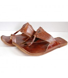 Sandália couro homem-várias cores-N 40-45