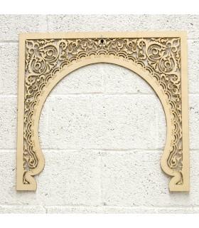 Modèle de porte Mekness en bois treillis - 60 cm