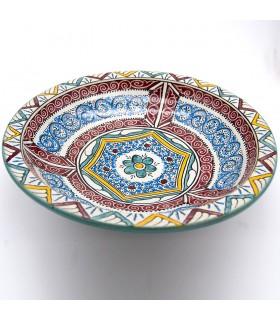 Assiette Fez 35 cm - Céramique Peinte - Andalusí Frutero