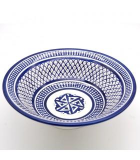 Decorated Fez Plate 23 cm - Painted Ceramics