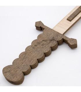 Espada Cristiana Madera - Juguete Artesanal Recreaciones