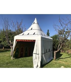 Jaima Arabe Carpa 3 x 3 m - PVC Estructura - Fiestas Decoraciones Arabes