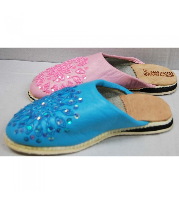 Shoe Babucha Leather Women - Various Colors - N 36-41