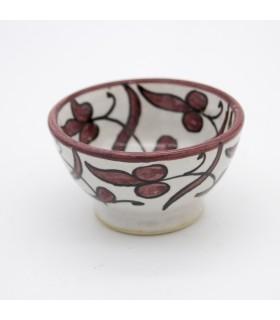 Cuenco Cerámica Artesano - Diseño Floral - Modelo Ashar