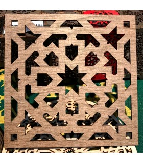 Salvamantel Madera Celosía Arabe - 20x20 cm - Modelo Murabba