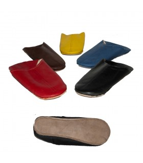 Babucha smooth skin - semi-hard sole - multiple colors-N38-46