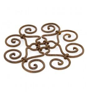 Salvamantel Forja artesanal - Diseño geometrico - modelo Espiral