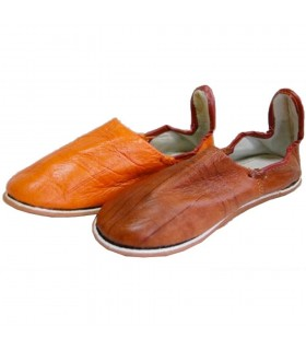Pantoufles en cuir - diverses couleurs - N 38-44