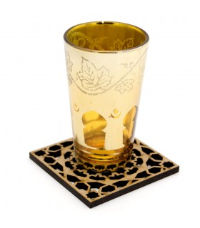 Set 6 Posavasos Celosía Arabe - Madera - Modelo Alhambra