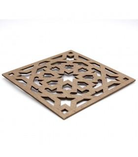 Salvamantel - Posa platos - Madera Laminada - Corte Láser - Diseño Alhambra