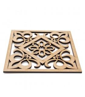 Salvamantel - Posa platos - DM - Corte Láser - Diseño barroco-árabe