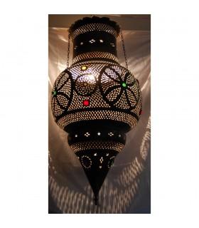 Couleurs de verre géant lampe - cuivre antique - andalouse - 1 m.