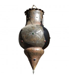 Андалузский гигантский светильник - Медный антик - стекла цвета - 1 м.