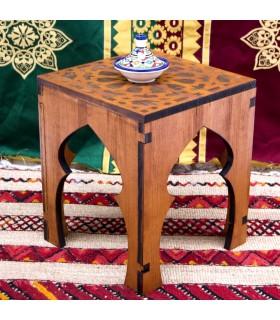 Mesita o Taburete Teteria - 100% Madera - Diseño Alhambra - Deluxe