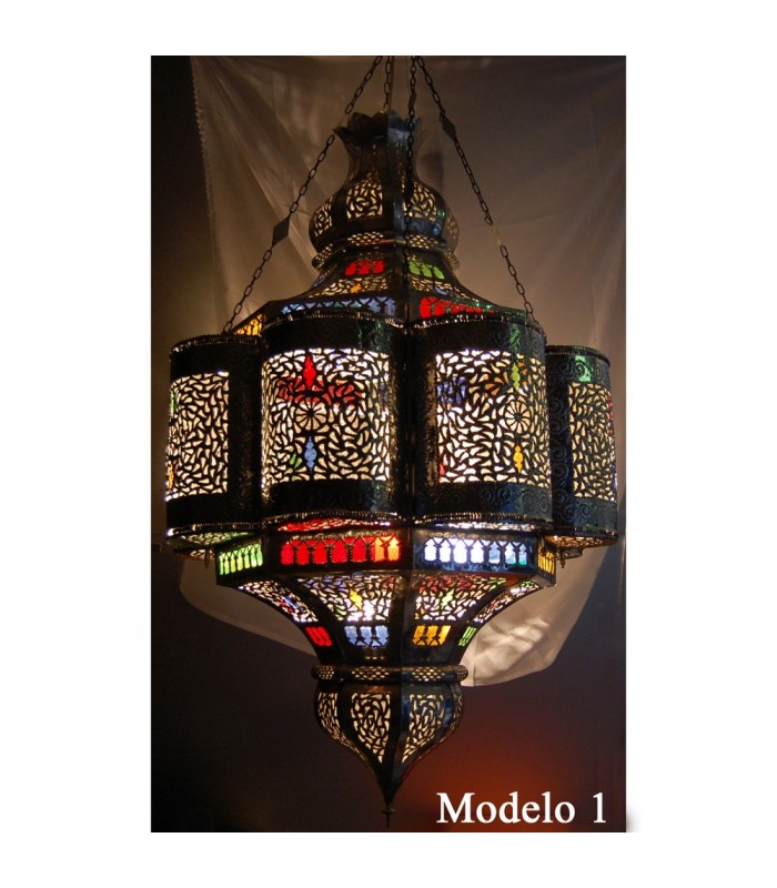 Huge Emerald lamp al-Andalus - Crystal Colors - 110 cm.