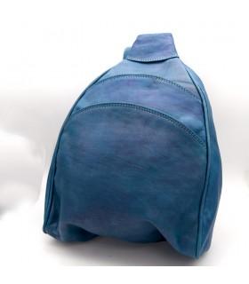 Mochila o bandolera Cuero 100% - Colores Vivos - Modelo Alkataf
