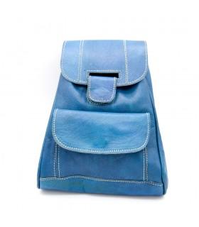 mochila cuero marroquineria artesanal